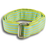 Lime Green and Sky Blue Striped Ribbon Belt