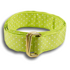 Lime Green with White Polka Dots Ribbon Belt