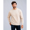 4-ply Pure Cashmere Chirnside Cable Crew Neck Sweater
