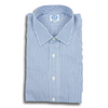 Blue and White Tape Stripe Spread Collar Shirt