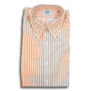 Orange Bengal Stripe Button Down Shirt