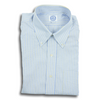 Blue End on End with Yellow Stripe Button Down Shirt