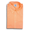 Orange Mini Gingham Button Down Shirt