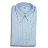 Blue Oxford with Pink Stripe Button Down Shirt