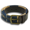 Tan and Navy Argentinian Motif Leather Belt