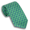 Green Classic Silk Foulard Diamond Neat Tie
