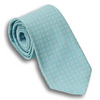 Teal Silk Square Patterned Tie