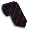 Navy and Red Silk Repp Tie