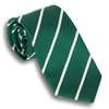Green and White Silk Repp Tie