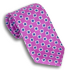 Fuchsia Silk Large Square Patterned Tie