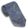 Light Green Silk Paisley Foulard Tie