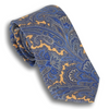 Pale Yellow Silk Paisley Foulard Tie