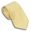 Yellow Silk Square Patterned Tie