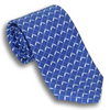 Blue Silk Oars Patterned Tie