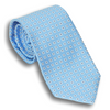 Pale Blue Silk Square Patterned Tie
