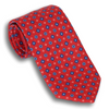 Red Classic Silk Foulard Diamond Neat Tie