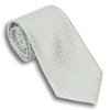 Pale Grey Silk Small Square Patterned Tie
