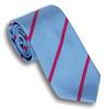 Light Blue and Cranberry Reppe Stripe Tie