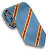 Sky Blue and Gold/Red Reppe Stripe Tie