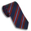 Navy Blue, Light Blue, and Maroon Silk Reppe Tie