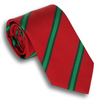 Red and Forest Green/Grass Green Stripe Tie