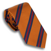 Burnt Orange with Navy and Red Reppe Tie