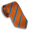 Tiger's Eye Orange with Light Blue/Brown Reppe Tie