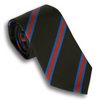Dark Brown with Light Blue/Orange Reppe Tie