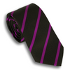Brown and Berry Striped Tie