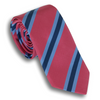 Pink and Sky Blue/Navy Mogador Stripe Silk and Cotton Tie