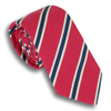 Pink and White/Navy Mogador Stripe Silk and Cotton Tie