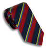 Red/Navy and Light Blue/Gold Striped Tie