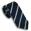 Navy and White Silk Repp Tie