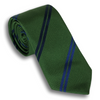 Green with Blue and Navy Alternating Striped Tie