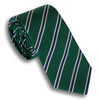 Dark Green and Silver/Navy Reppe Tie