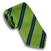 Lime Green and Navy/Sky Blue Reppe Tie