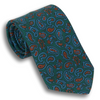 Dark Green with Paisley Pattern Tie