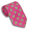 Cerise Pink with Printed Motif Pattern Tie