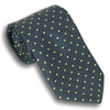 Navy with Gold Polka Dots Silk Tie