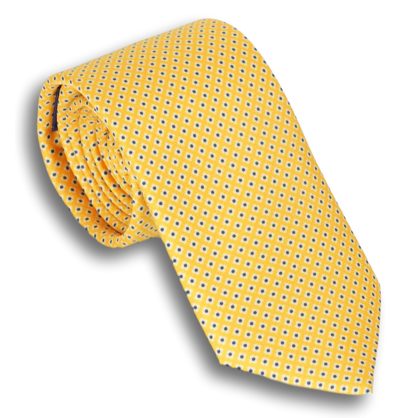 Small Flower Motif Silk Tie