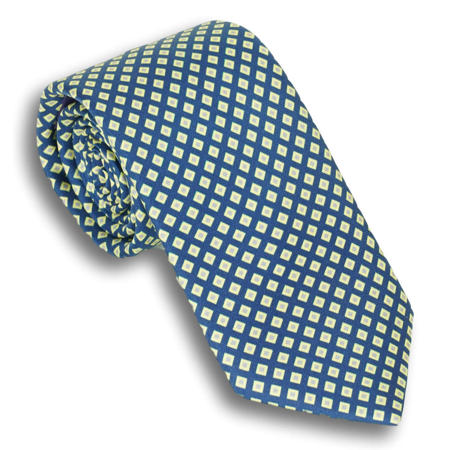 Multicolored Diamond Silk Tie
