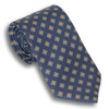 Navy with Multicolored Diamond Patterned Silk Tie