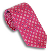 Berry with White Diamond and Blue Dot Silk Tie