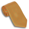 Orange with Shades of Green Dotted Silk Tie