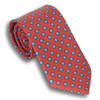 Red Silk Tie with Multicolored Hexagons