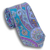 Shades of Purple Paisley Patterned Silk Tie
