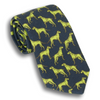 Navy with Lime Hunting Dog Silk Tie