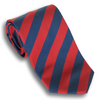 Red and Navy Reppe Silk Tie
