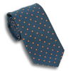 Navy with Orange Polka Dots Poplin Tie