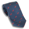 Navy with Red Elephant Silk Tie